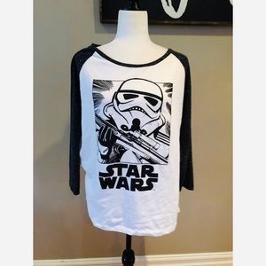 Star Wars stormtrooper baseball tee
